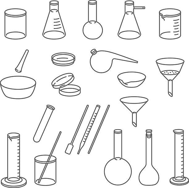 chemical laboratory glassware. - kondensation stock-grafiken, -clipart, -cartoons und -symbole