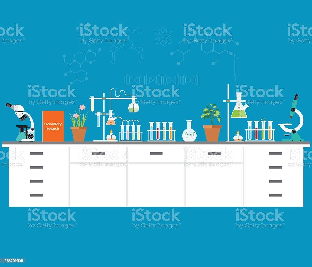 Chemical laboratory science and technology. - ilustración de arte vectorial