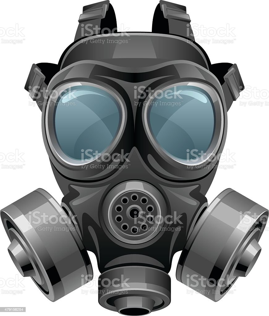 Chemical mask vector art illustration