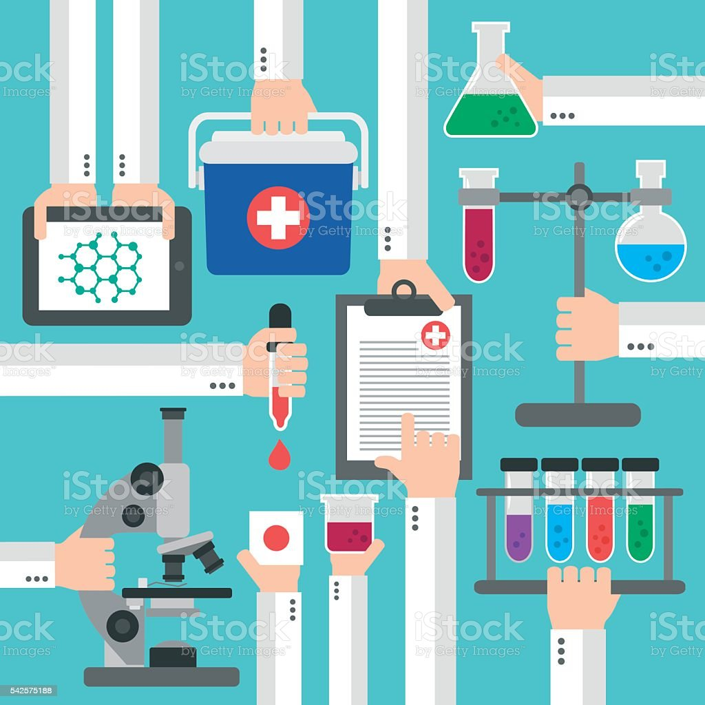 Chemical Research Laboratory flat design vector art illustration