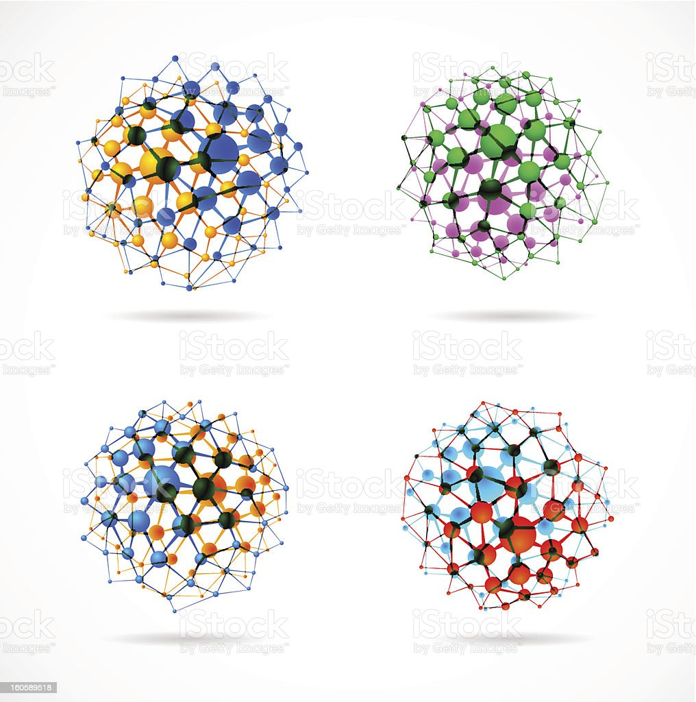 Chemical spheres vector art illustration