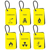 Set of Chemical vector tags. Chemical storage