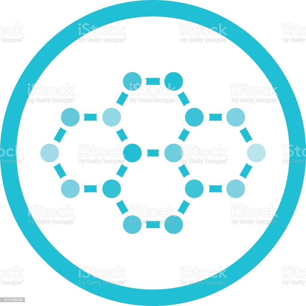 Ilustración De Estructura Química De Una Molécula Y Más
