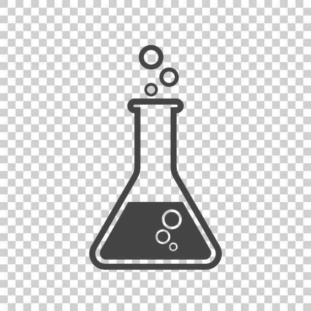 Chemical test tube pictogram icon. Chemical lab equipment isolated on isolated background. Experiment flasks for science experiment. Trendy modern vector symbol. Simple flat illustration Chemical test tube pictogram icon. Chemical lab equipment isolated on isolated background. Experiment flasks for science experiment. Trendy modern vector symbol. Simple flat illustration laboratory flask stock illustrations