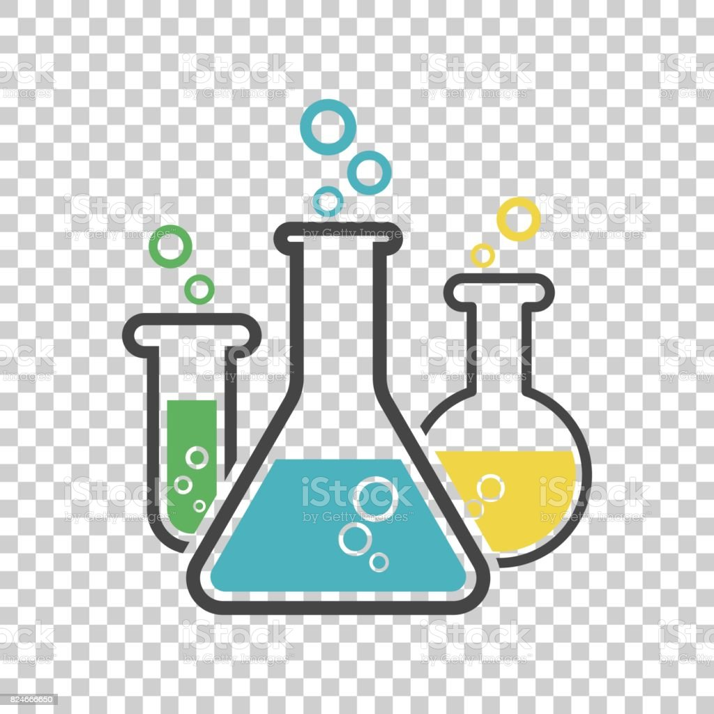 Chemical test tube pictogram icon. Laboratory glassware or beaker equipment isolated on isolated background. Experiment flasks. Trendy modern vector symbol. Simple flat illustration vector art illustration
