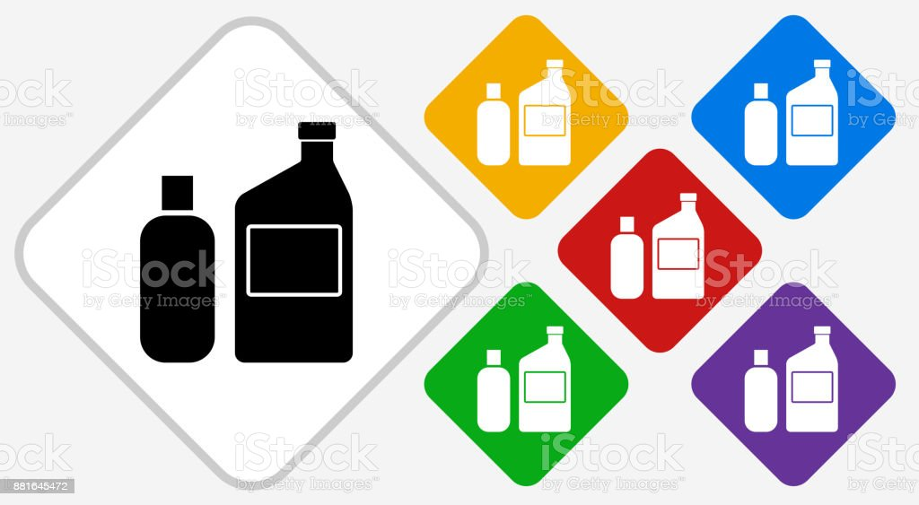 Chemicals For Photographic Processing Color Diamond Vector Icon