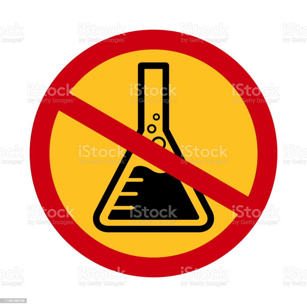 Chemicals Free Symbol Danger Chemicals Warning Sign Chemical