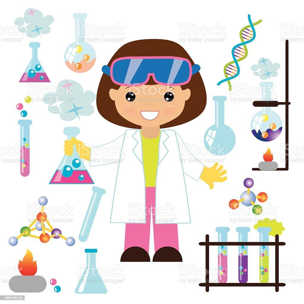 Chemist vector illustration vector art illustration