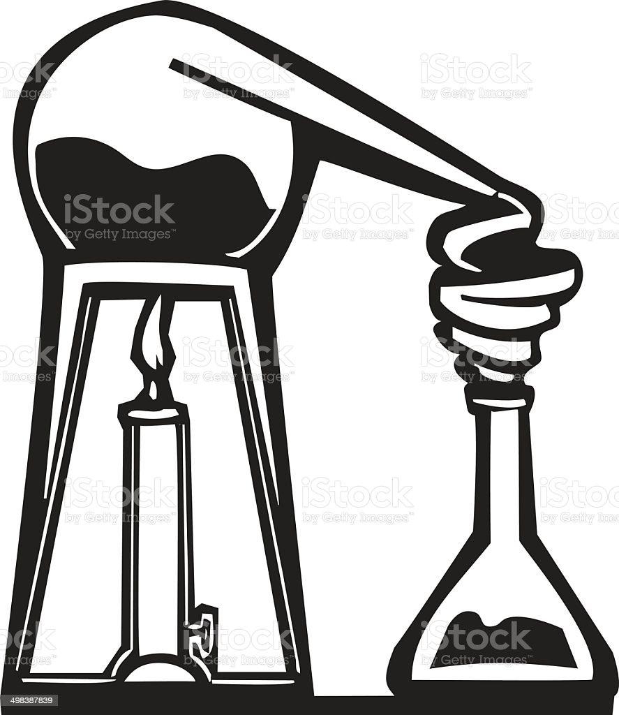 Bioquímica de Alembic - ilustración de arte vectorial