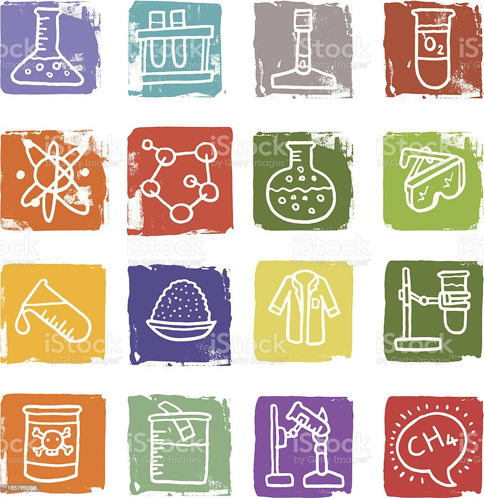 Chemistry and experiments icon blocks royalty-free chemistry and experiments icon blocks stock vector art & more images of atom