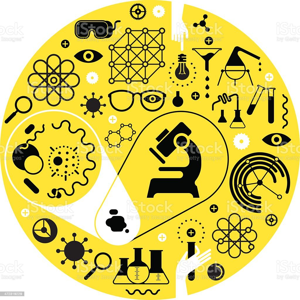 Chemistry And Science Symbols Stock Vector Art More Images Of Atom