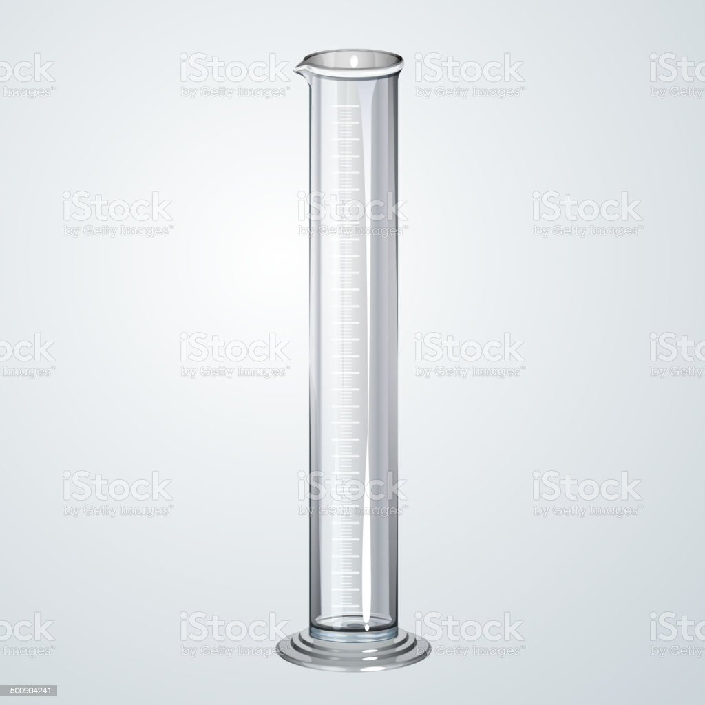 Chemistry Apparatus Graduated Cylinder Stock Vector Art  for Graduated Cylinder Laboratory Apparatus  55nar
