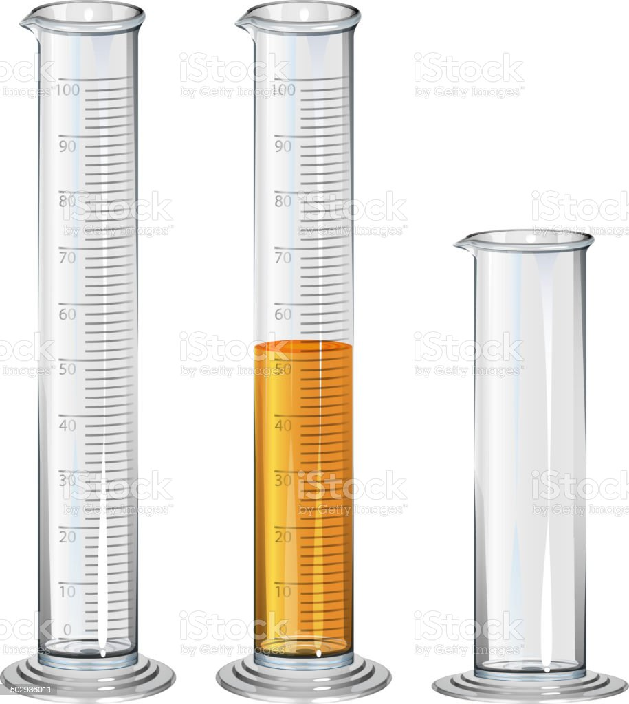 Chemistry Apparatus Graduated Cylinder With Fluid Stock Vector Art ... for Graduated Cylinder Laboratory Apparatus  45jwn