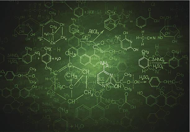 Chemie Schreibtafel – Vektorgrafik