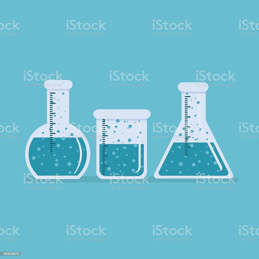 Chemistry Bottle Beaker Laboratory School Supplies Vector chemistry bottle beaker laboratory school supplies vector - arte vetorial de stock e mais imagens de biologia royalty-free