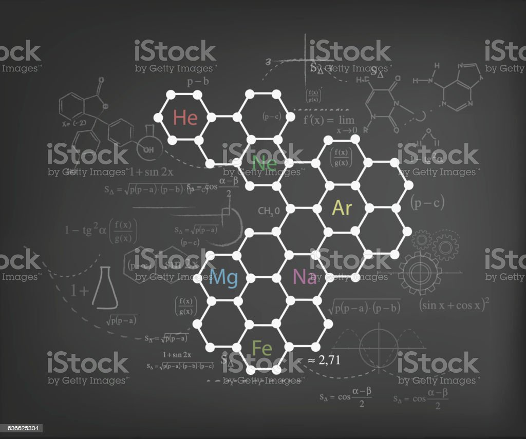 Chemistry chart stock vector art more images of blackboard chemistry chart royalty free chemistry chart stock vector art amp more images of blackboard ccuart Gallery