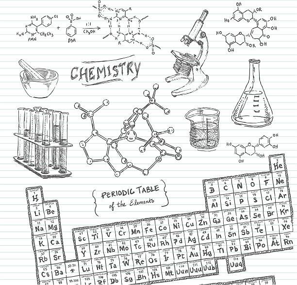 Chemistry Doodle Sketches vector art illustration