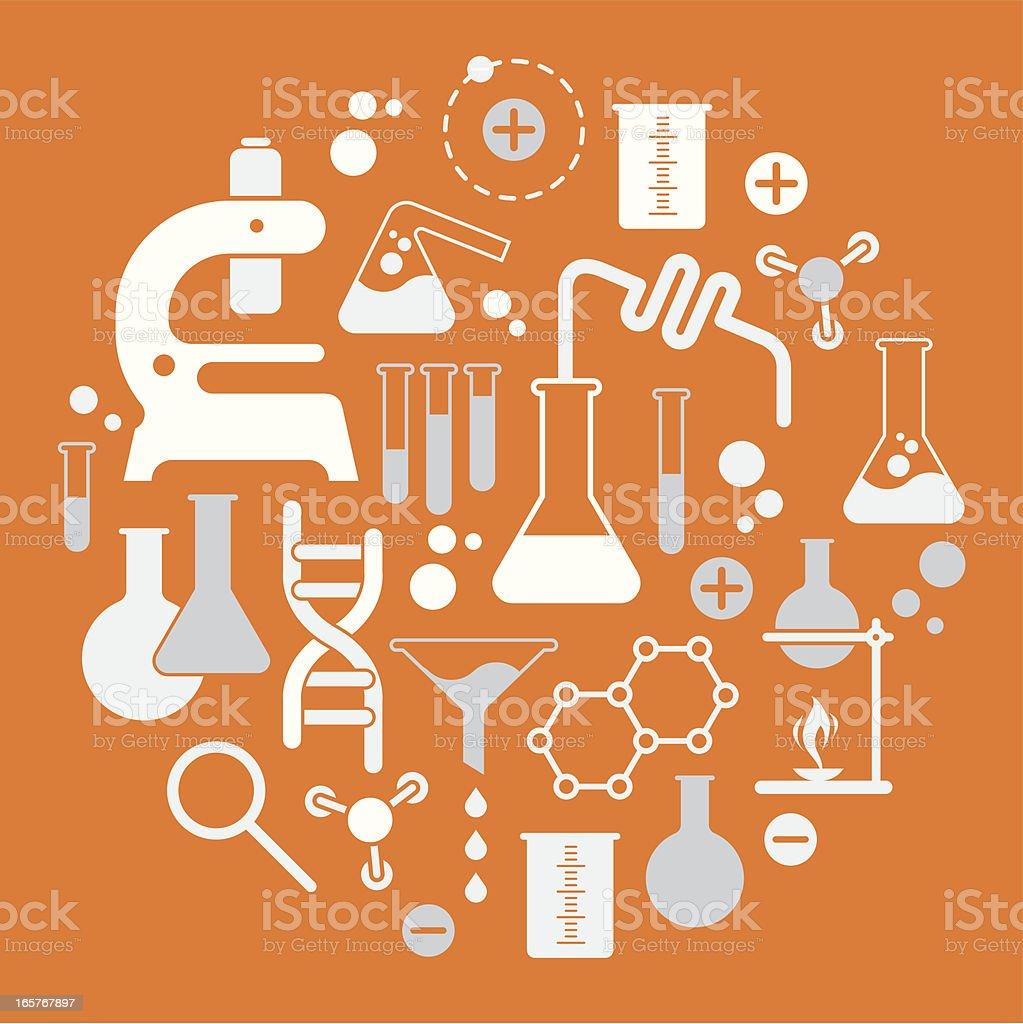 Chemistry elements vector art illustration