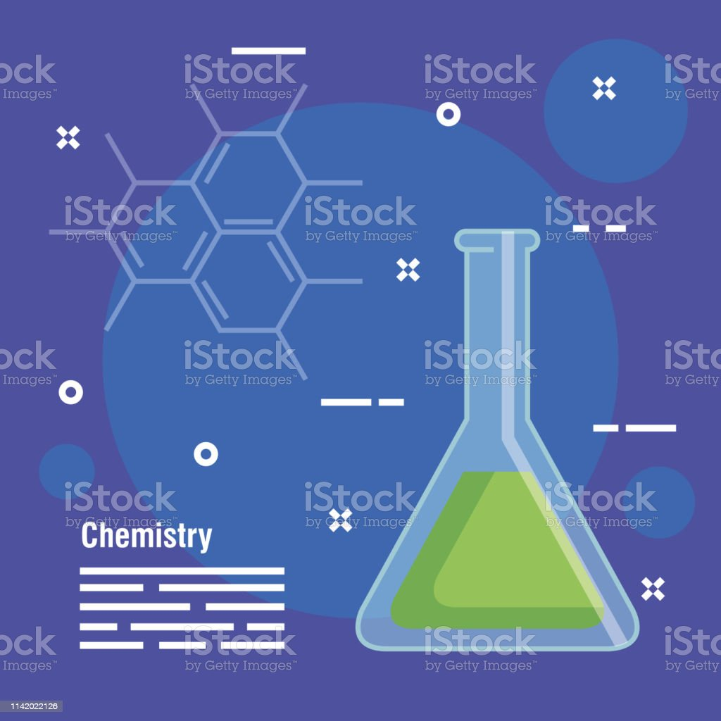 Chemistry Erlenmeyer Flask Analysis Equipment Stock