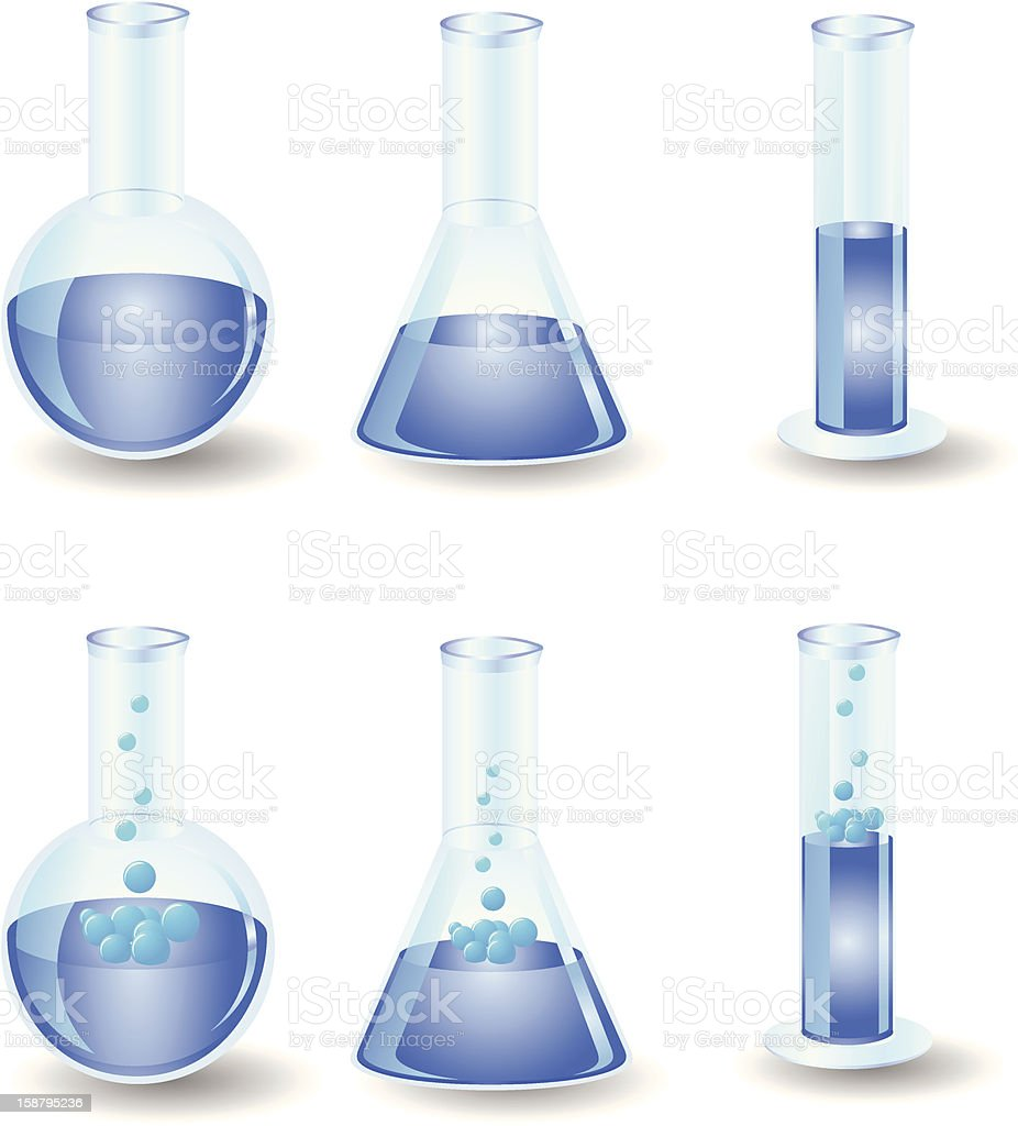 Chemistry Glassware royalty-free stock vector art