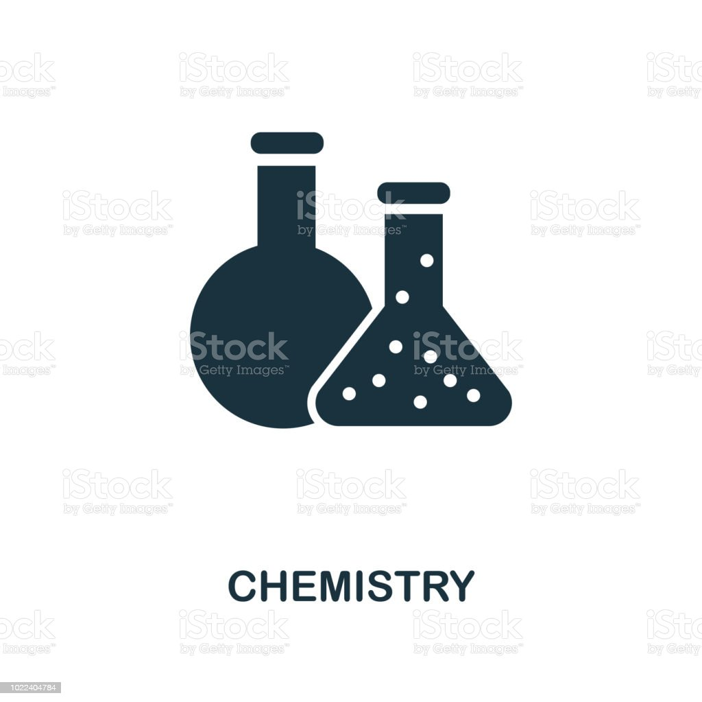 Chemistry Icon Monochrome Style Icon Design From School Icon Collection Ui Illustration Of Chemistry Icon Pictogram Isolated On White Ready To Use In Web Design Apps Software Print Stock Illustration Download