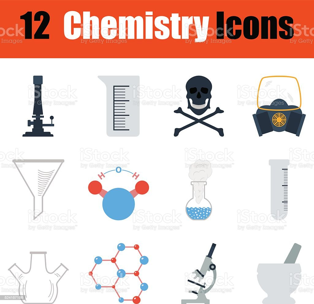 Chemistry icon set vector art illustration