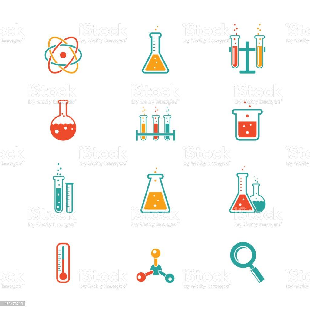 Iconos de química - ilustración de arte vectorial