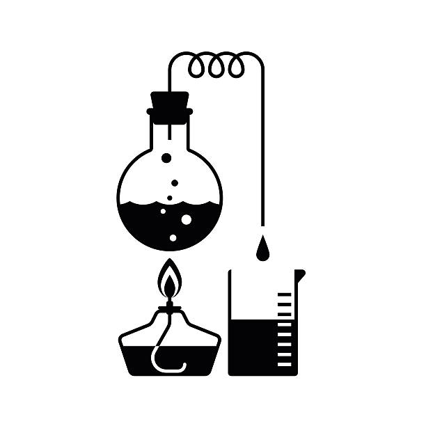chemie illustrationen - destillieren stock-grafiken, -clipart, -cartoons und -symbole