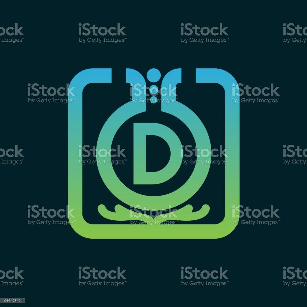 Conception Dicône Chimie Initiale Lettre D Vecteurs Libres
