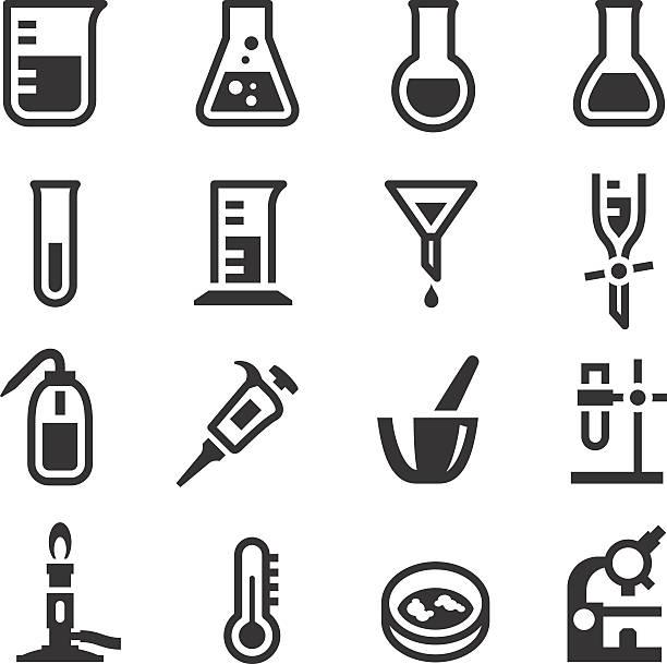 ilustraciones, imágenes clip art, dibujos animados e iconos de stock de 1 de iconos de laboratorio de bioquímica - química