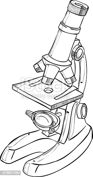 Chemistry Lab Microscope Sketch Stock Vector Art & More