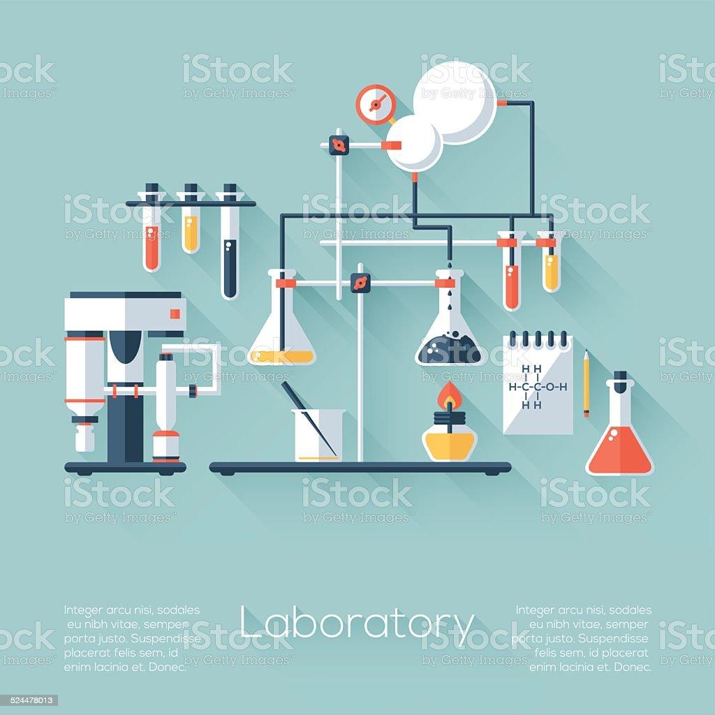 Chemistry Laboratory vector art illustration