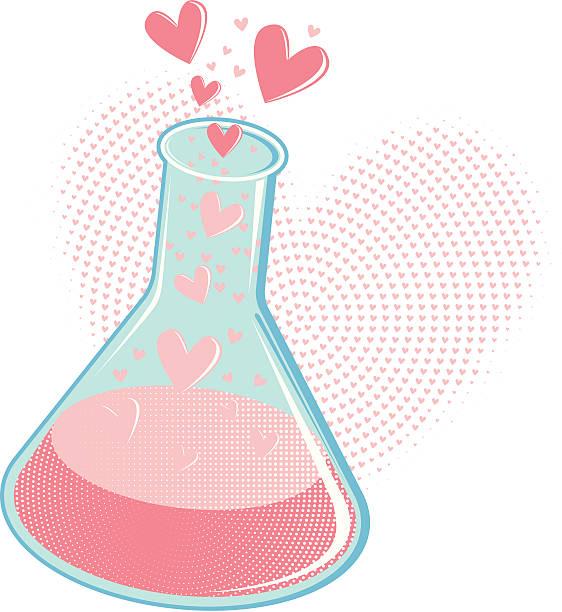 Chemistry of Love  love potion stock illustrations