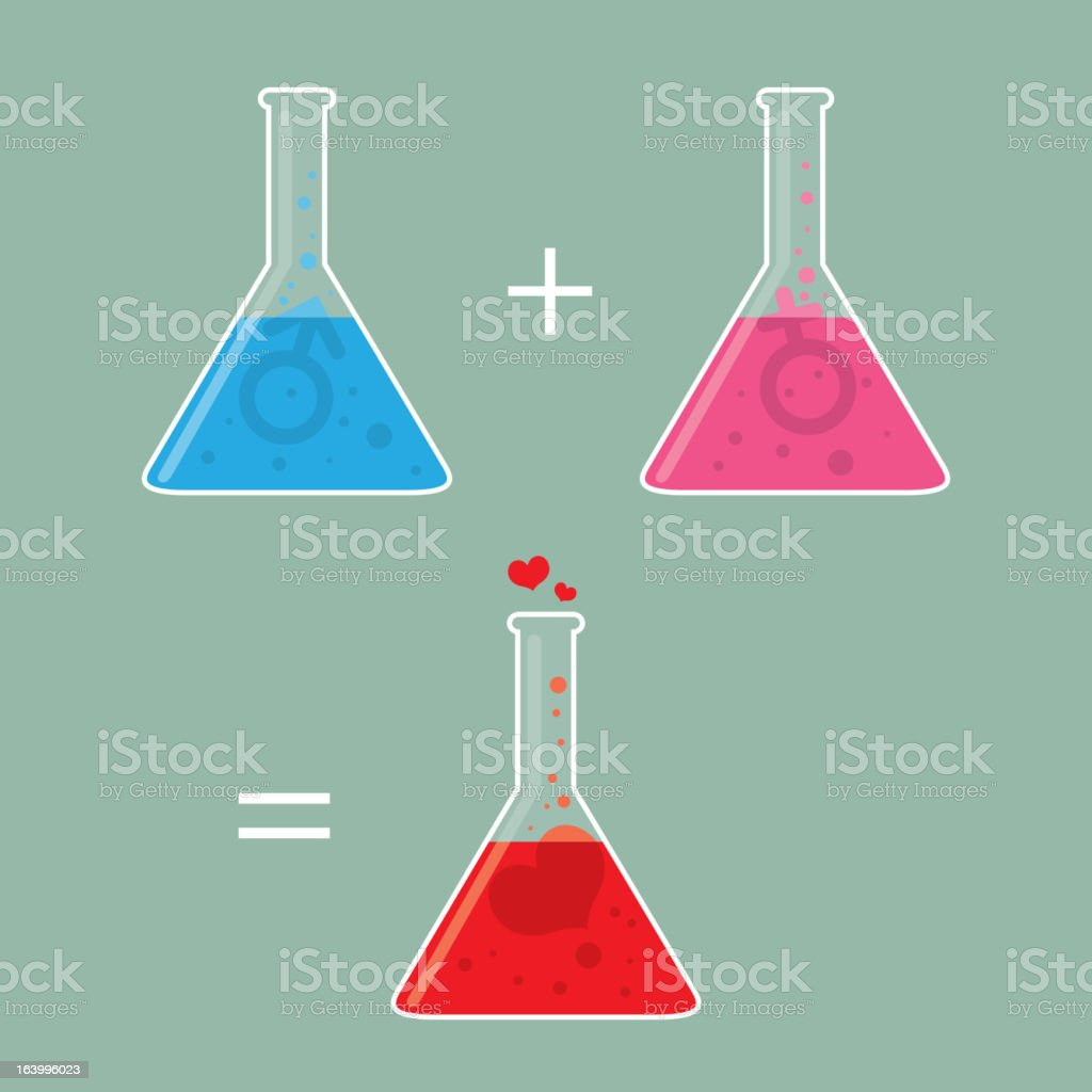 Chemistry of Love royalty-free stock vector art