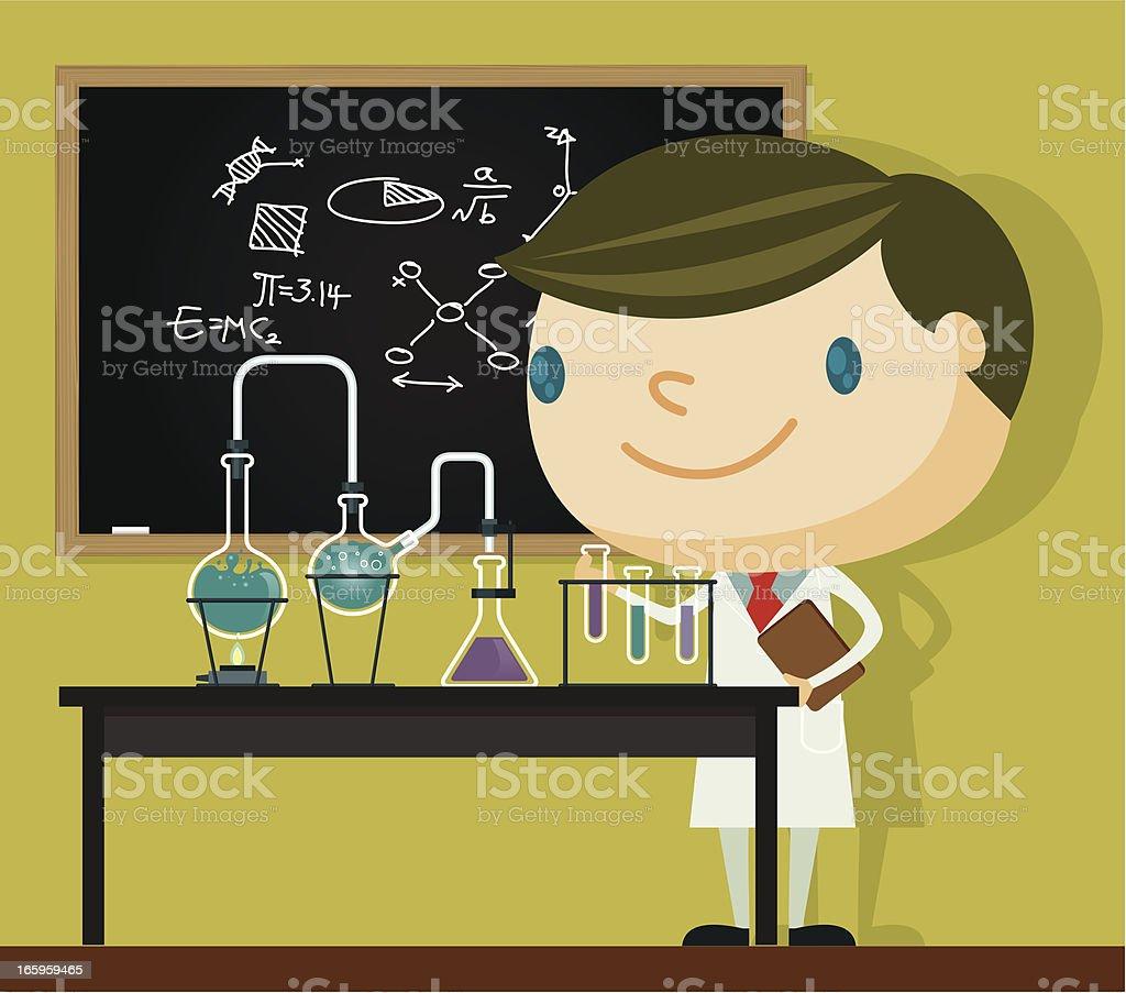 Chemie Professor – Vektorgrafik