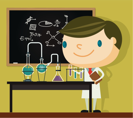 Science lab stock illustrations