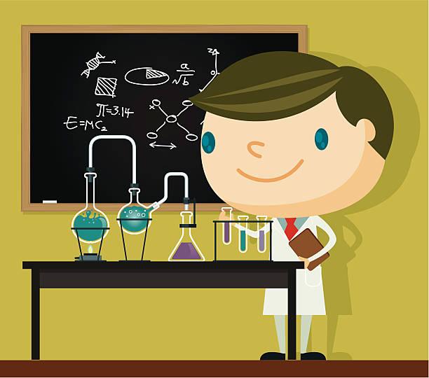 Science lab stock illustrations