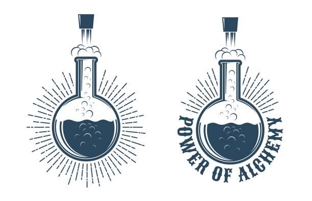 Bекторная иллюстрация Chemistry retro logo