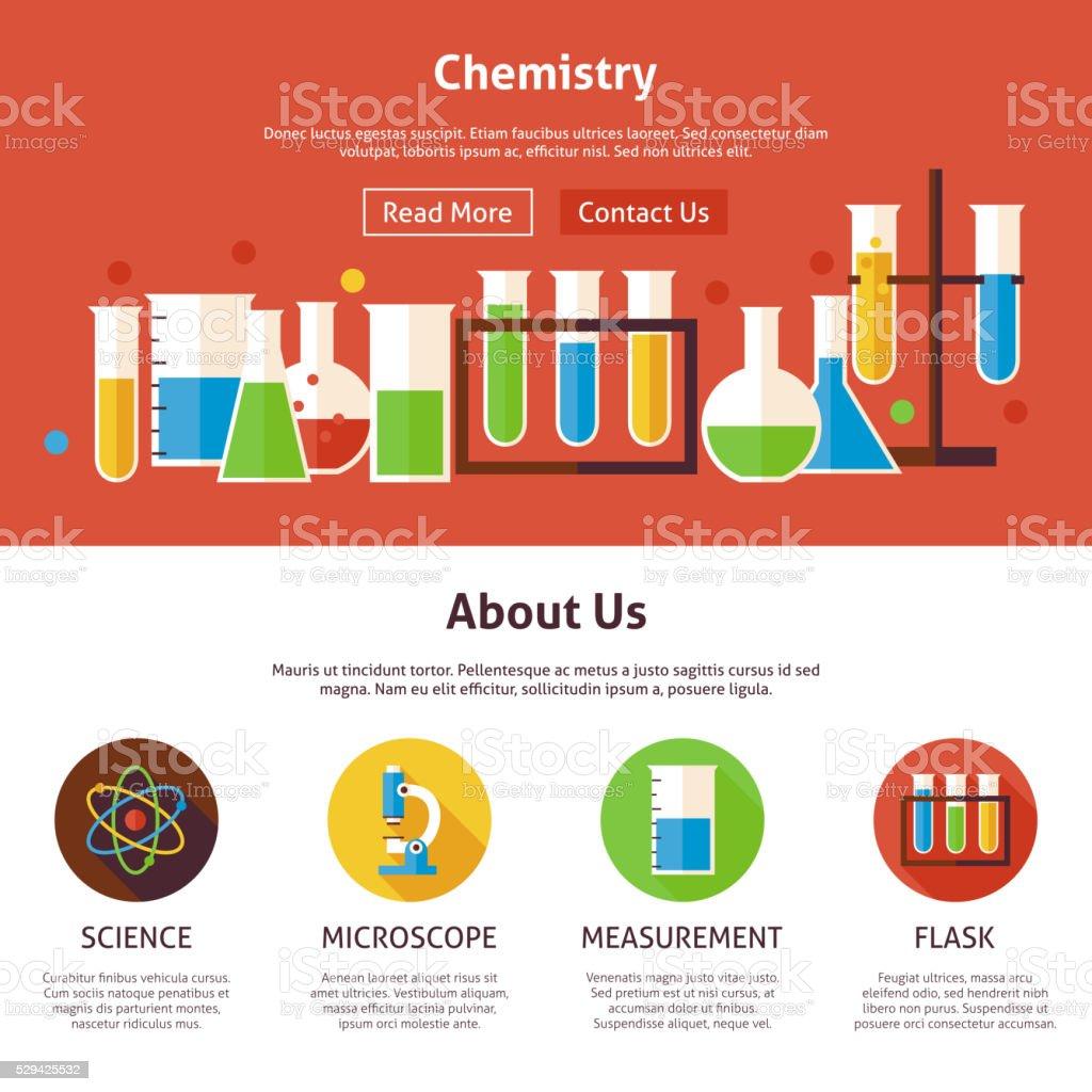 化学科学フラット web デザインテンプレート アイコンのベクターアート