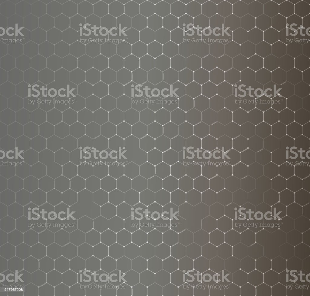 Chemistry seamless pattern, hexagonal design vector illustration vector art illustration