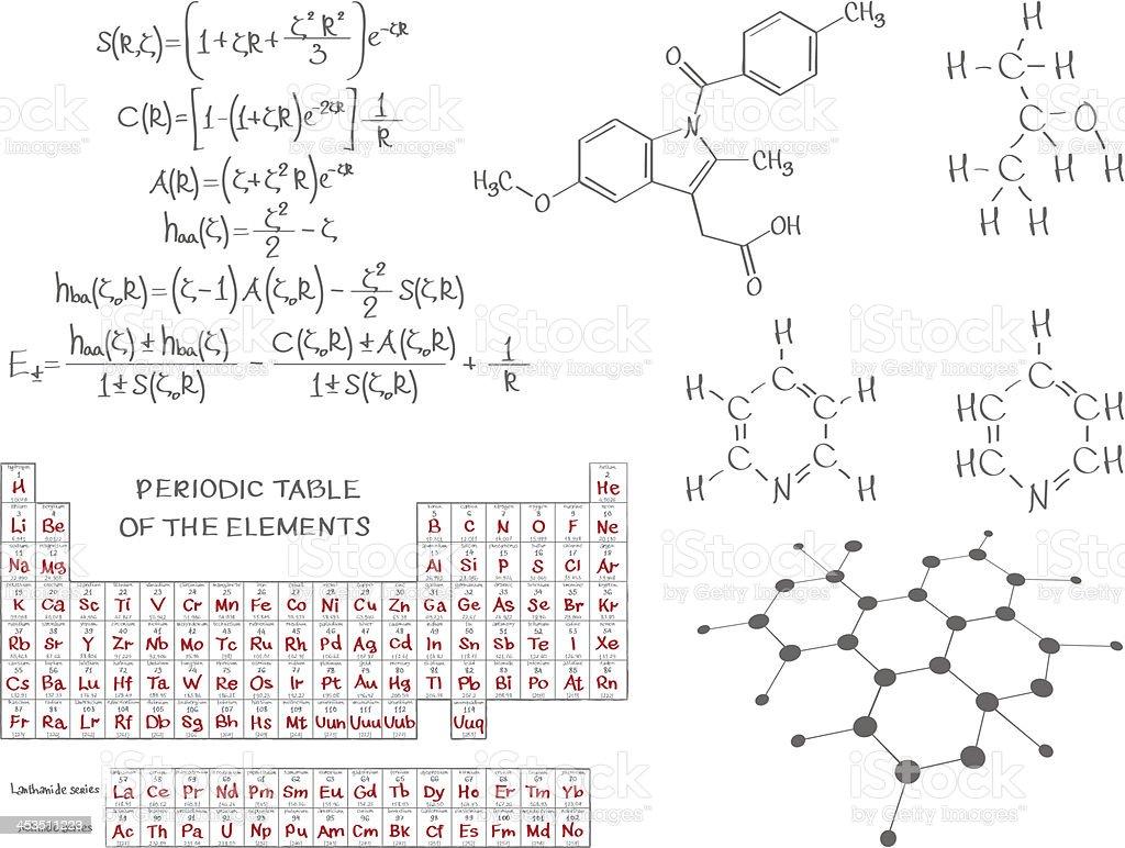 Bioquímica química - ilustración de arte vectorial