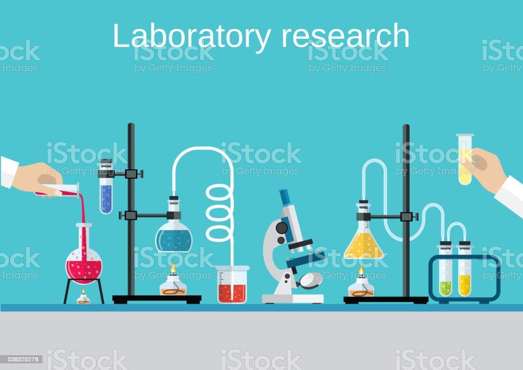 Químicos científicos equipos. - ilustración de arte vectorial