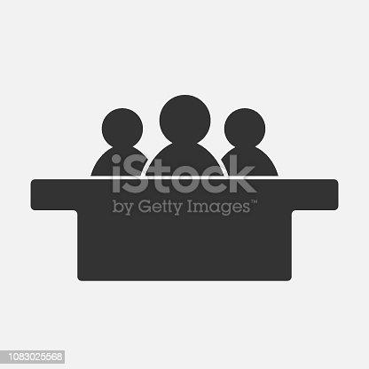 Jurors icon isolated on white background. Vector illustration. Eps 10.