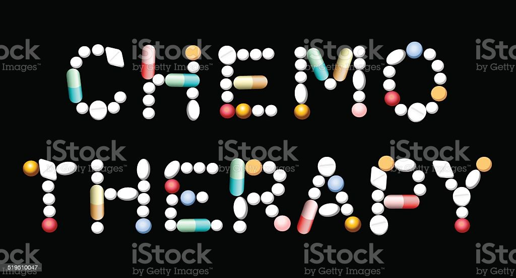Chemotherapy Pills vector art illustration