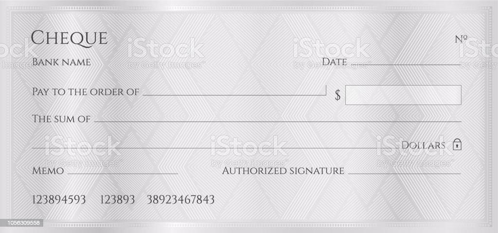 Modele De Cheque Cheque Cheques Cliparts Vectoriels Et Plus D