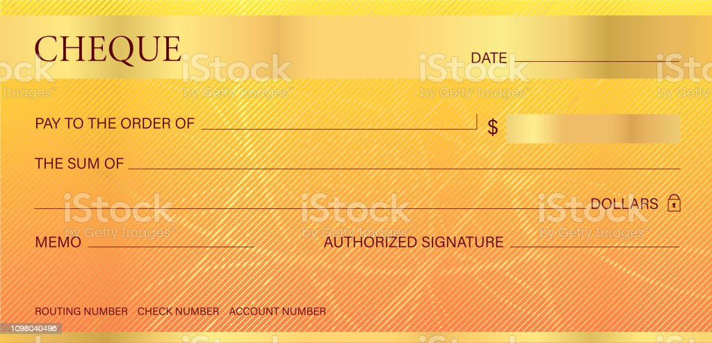 Cheque Check Guilloche Pattern With Abstract Line Watermark Stock