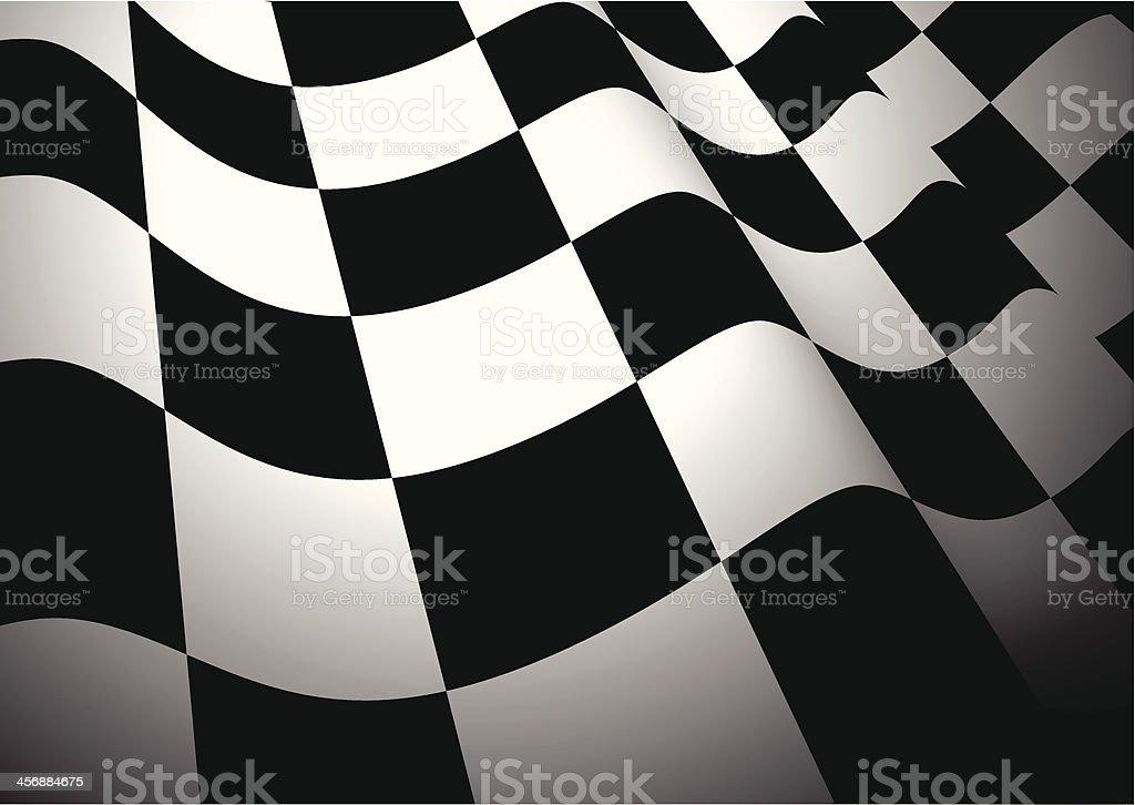 Chequered flag vector art illustration