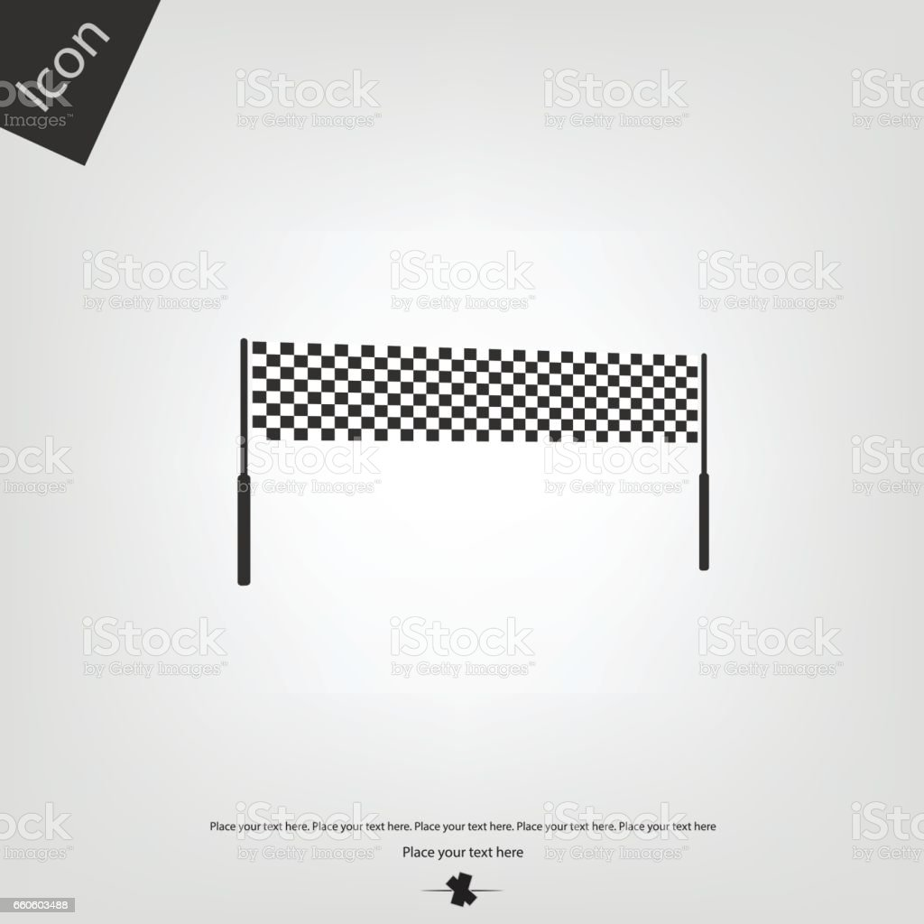 Chequered race flag icon royalty-free chequered race flag icon stock vector art & more images of car