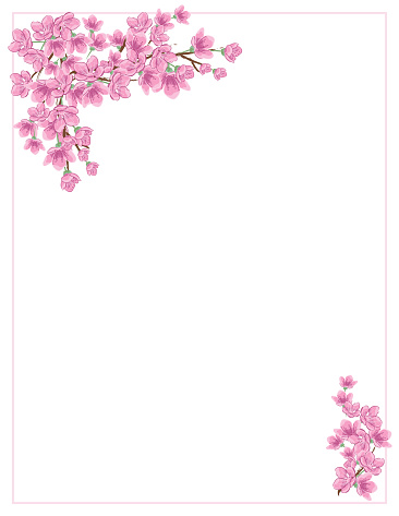 Cherry Blossom Invitation Template