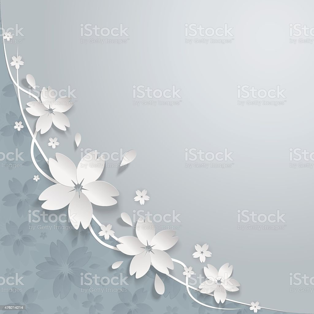 Cherry blossom paper flowers background stock vector art more cherry blossom paper flowers background royalty free cherry blossom paper flowers background stock vector art mightylinksfo